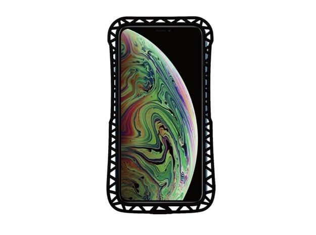 iPhone XS MAX/11 Pro MAX Bumper  truss in Black Natural Versatile Plastic