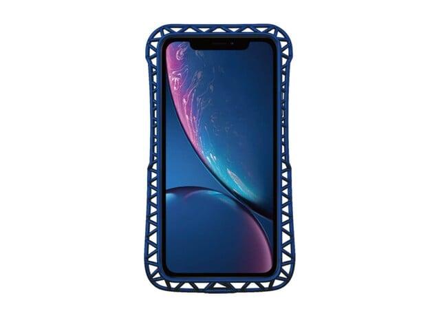iPhone XR/11 Bumper truss in Blue Processed Versatile Plastic