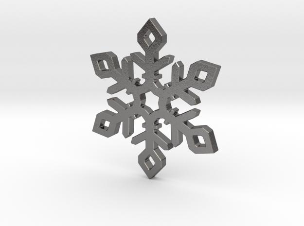 Snow Flake in Polished Nickel Steel