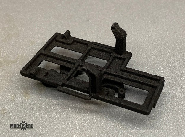 SCX24 Low CG Battery Tray + Shock Towers in Black Natural Versatile Plastic