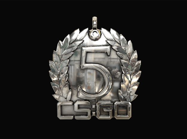 CS:GO - 5 Year Medallion in Fine Detail Polished Silver