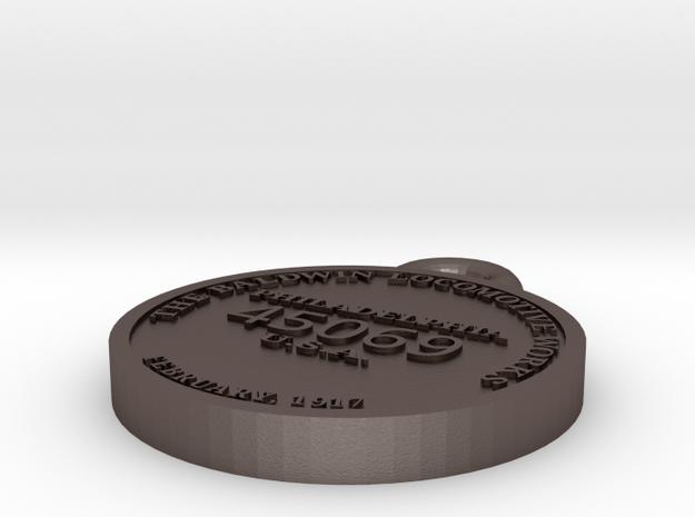 "ET&WNC ""Tweetsie"" #12 builder's plate in Polished Bronzed-Silver Steel"