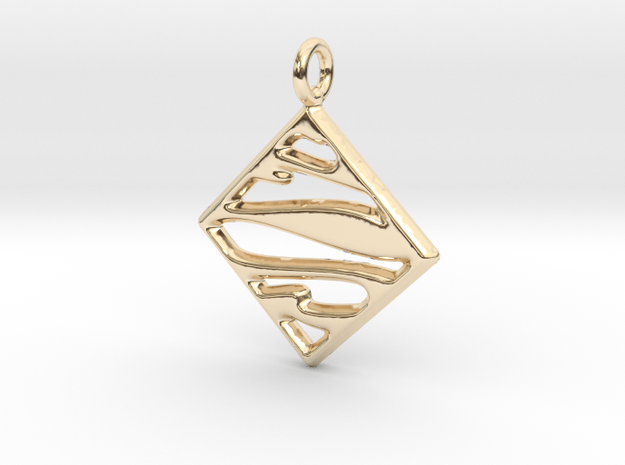 Mosaic Pendant - Keychain in 14k Gold Plated Brass