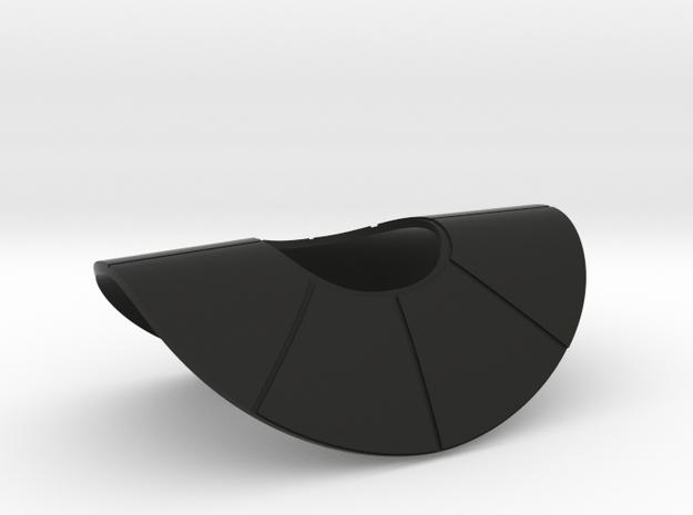 "Commander Ganch's Style Pauldron for 6"" in Black Natural Versatile Plastic"