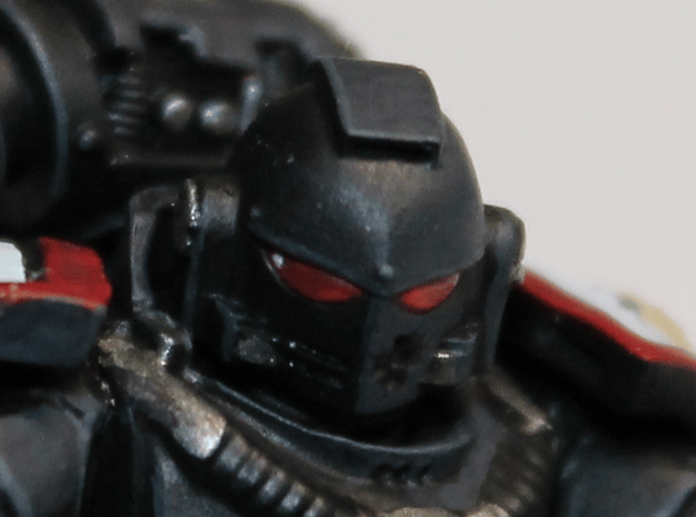 Black Templars Helmets (10 pcs) in Smoothest Fine Detail Plastic