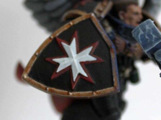 Black Templars Shield (5 pcs. left, 5 pcs. right) in Smoothest Fine Detail Plastic