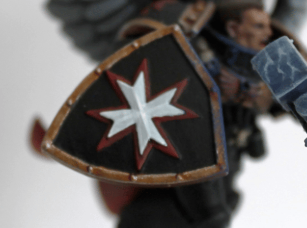 Black Templars Shield (5 pcs. righthanded) in Smoothest Fine Detail Plastic