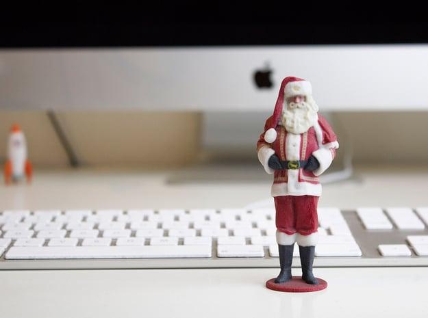 Santa Claus in Full Color Sandstone