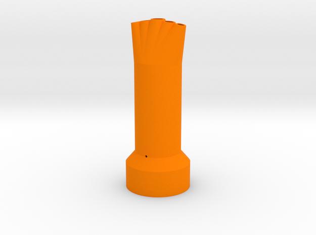 5 Mentos/Diet Soda Nozzle - 5 Spouts, 5 Mentos in Orange Processed Versatile Plastic