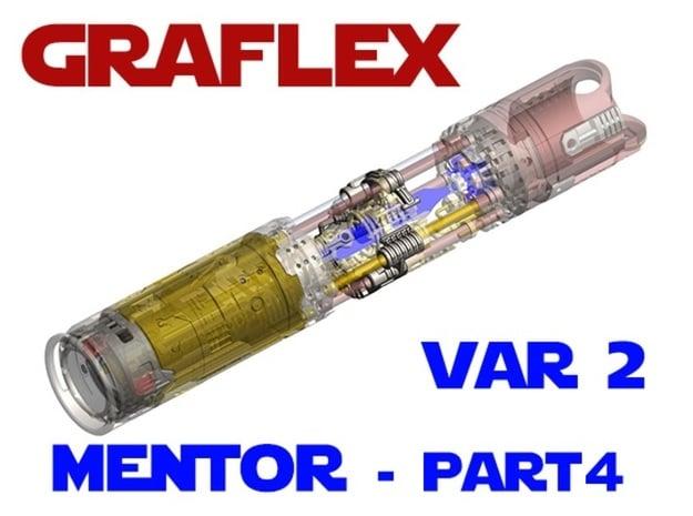 Graflex Mentor - Var2 Part04 - Power Gate in White Natural Versatile Plastic