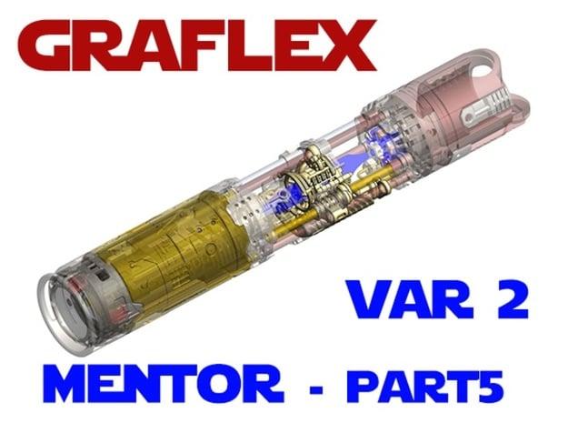 Graflex Mentor - Var2 Part05 - Crystal Chamber in White Natural Versatile Plastic