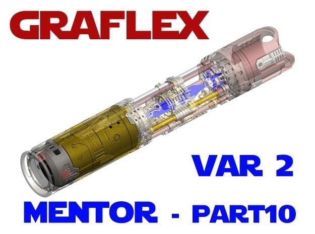Graflex Mentor - Var2 Part10 - Power Cell in White Natural Versatile Plastic