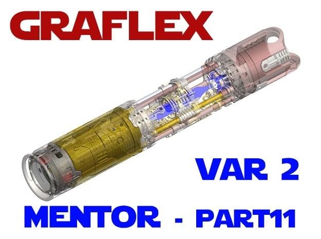 Graflex Mentor - Var2 Part11 - Power Cell Cover in White Natural Versatile Plastic