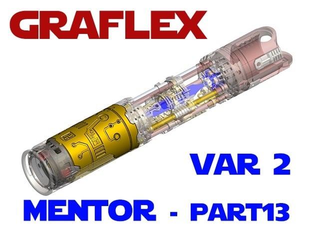 Graflex Mentor - Var2 Part13 - Cover Plate 1 in White Natural Versatile Plastic