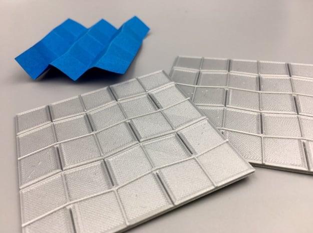 Origami Press - Miura Fold in White Natural Versatile Plastic