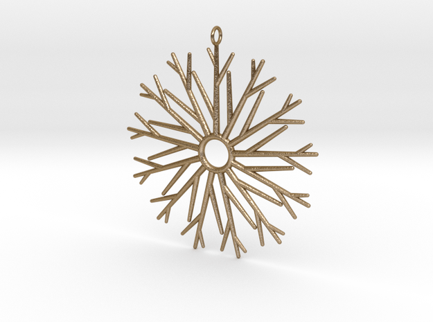 13 Branches Pendant in Polished Gold Steel