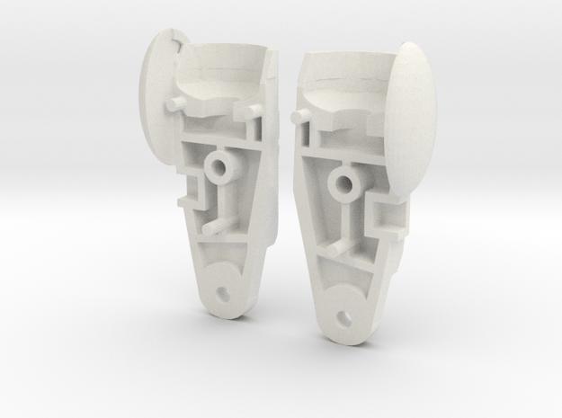 POTP Moonracer Alternate Thighs in White Natural Versatile Plastic