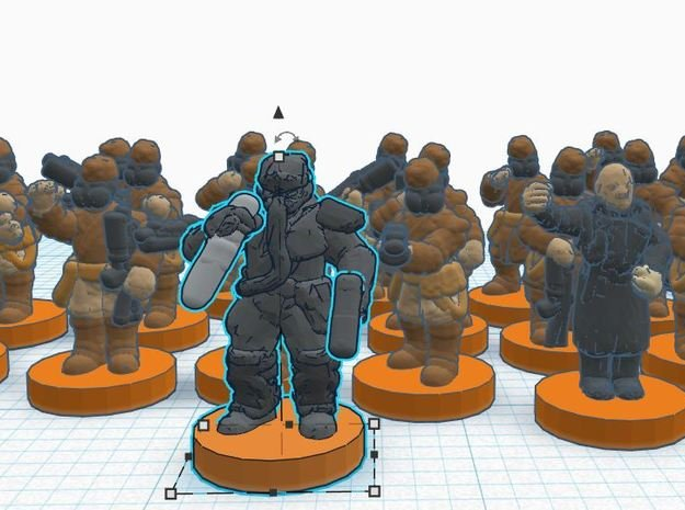 ISB Elites and Characters in Smooth Fine Detail Plastic
