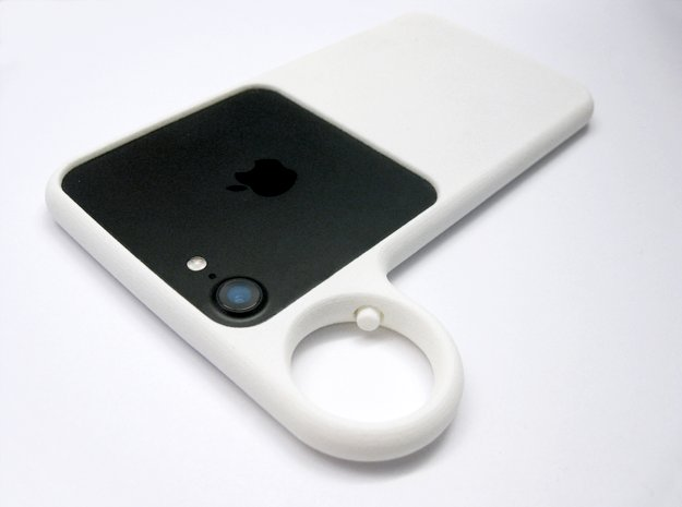 Ring case for iPhone 6 and 7 in White Processed Versatile Plastic