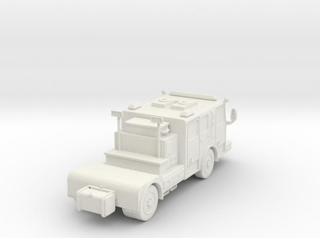 ~ 1/87 HO Seagrave tractor in White Natural Versatile Plastic