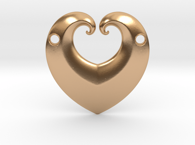 Hearty Pendant in Polished Bronze