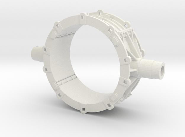 Mesta Toroidal Steel Mill Casting Model in White Natural Versatile Plastic: 1:87 - HO