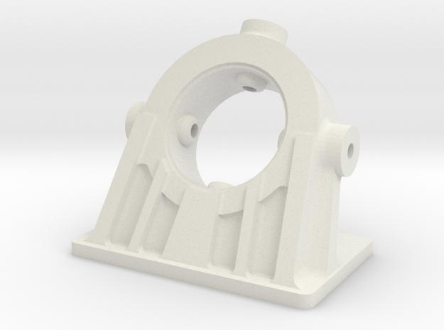 Bethlehem Steel Cast Angled Bearing Model in White Natural Versatile Plastic: 1:87 - HO