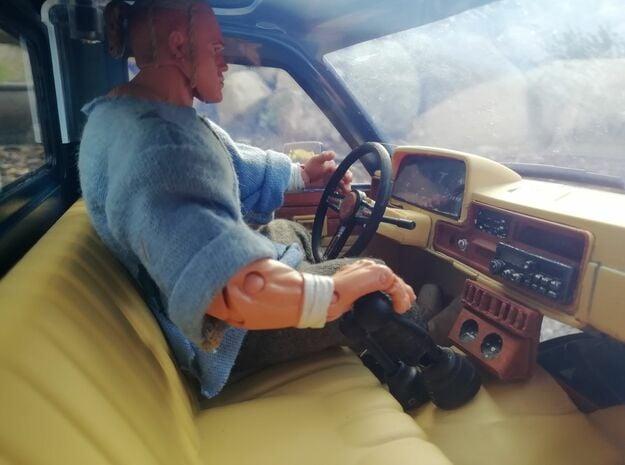 1/10 Scale steering wheel for Bruiser / HG P407 /  in White Natural Versatile Plastic