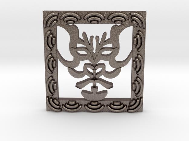 KABUKI(kumadoli) in Polished Bronzed Silver Steel