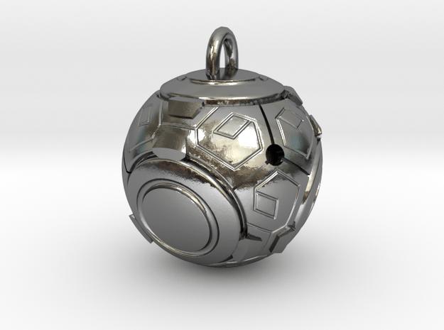 Zenyatta Orb Pendant (small) in Polished Silver