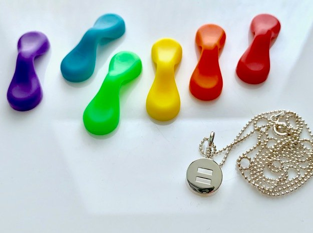 Equanimity Charm in Polished Silver