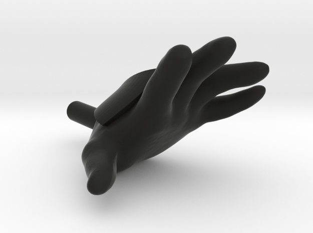 "Accessory Hand for 6"" Obi-Wan in Black Natural Versatile Plastic"