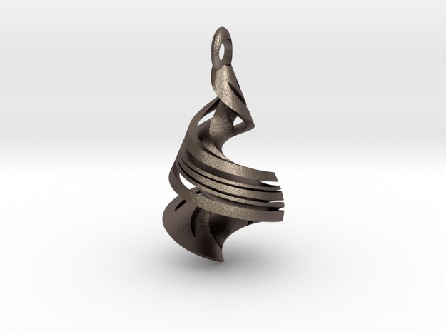 Orange Peel In Space in Polished Bronzed Silver Steel: Extra Large