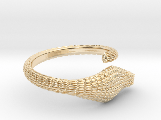 cobra ring size US 10.75 (20.4mm) in 14k Gold Plated Brass