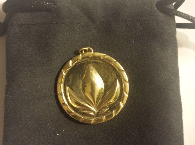 Anna Medallion in Polished Brass