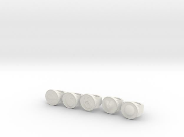 Captain Planet in White Natural Versatile Plastic