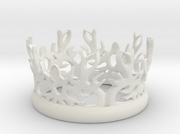 "GOT Rule Crown (4"" Diameter) in White Natural Versatile Plastic"