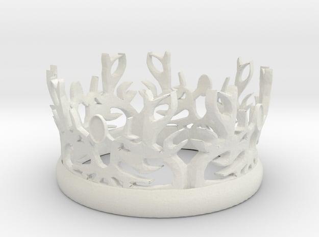 "GOT Rule Crown (8"" Diameter) in White Natural Versatile Plastic"