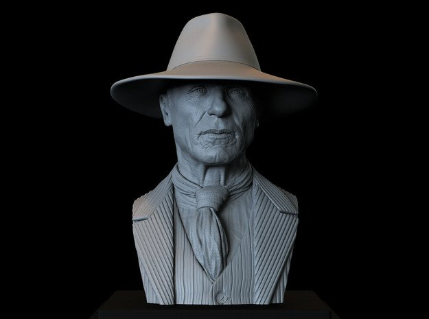 Man In Black (Ed Harris) from Westworld in White Natural Versatile Plastic