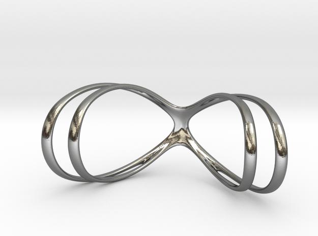 Splint - double helix in Polished Silver: 9.75 / 60.875