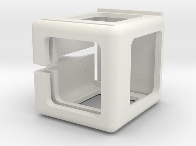 Deranged Session cage Ver 3 in White Natural Versatile Plastic