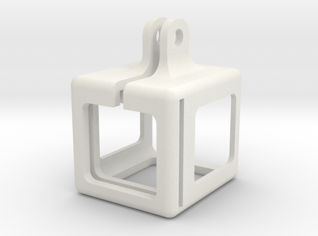 Deranged session cage Ver 3 no template in White Natural Versatile Plastic