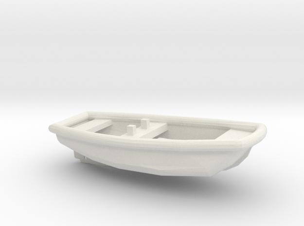 1/72 Scale 17 ft Line Handling Boat USN in White Natural Versatile Plastic