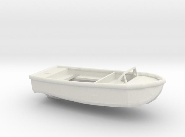 1/72 Scale 24 ft Plane Personnel Boat Mk5 USN in White Natural Versatile Plastic