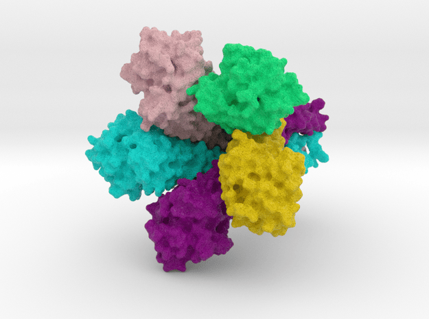 Zinc Ion Transporter, ZntB (surface) in Natural Full Color Sandstone