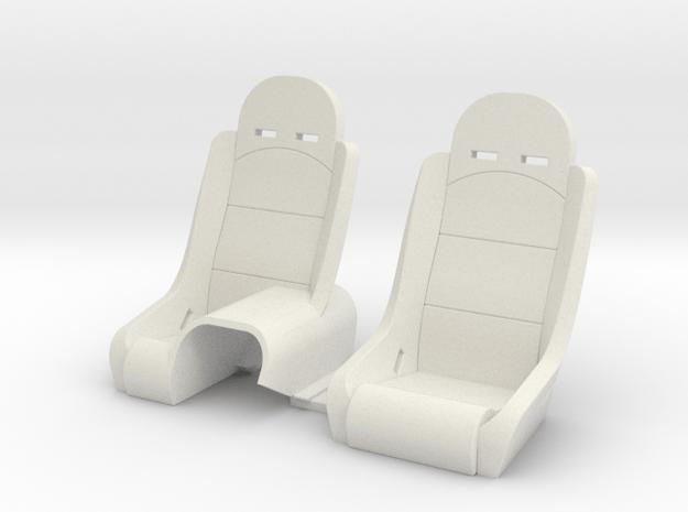 Seats for Micro Shark in White Natural Versatile Plastic