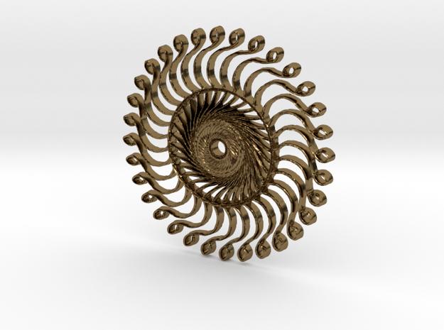 :Steampunk Kaleidoscope: Pendant in Polished Bronze