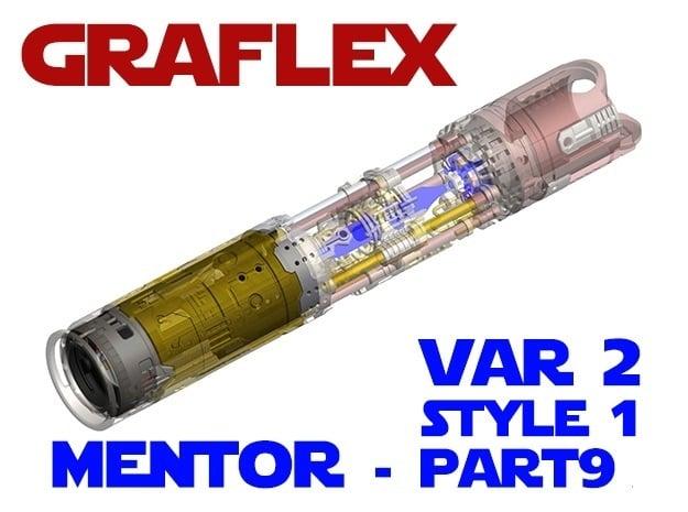 Graflex Mentor - Var2 Part9 Style1 - Power Module in White Natural Versatile Plastic