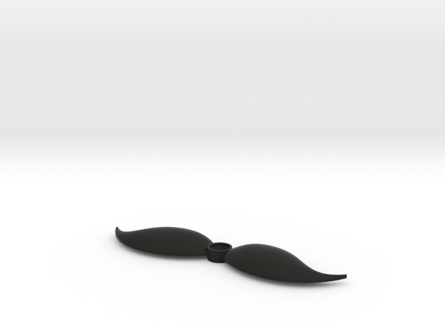 Mustache shaped outlet cover in Black Natural Versatile Plastic