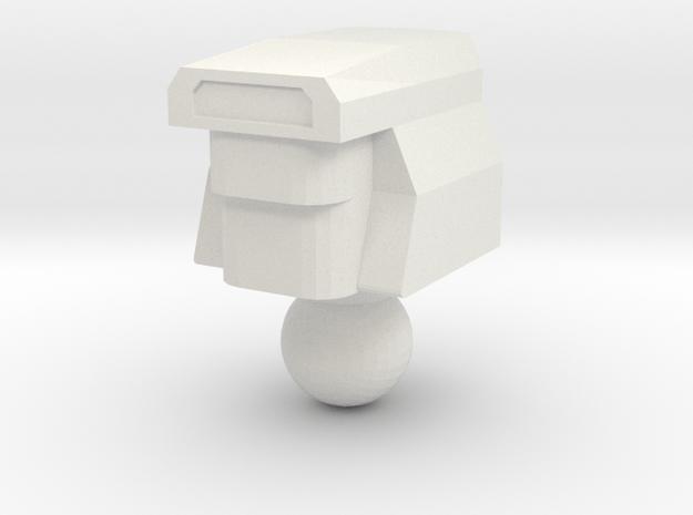 Computer geek head in White Natural Versatile Plastic